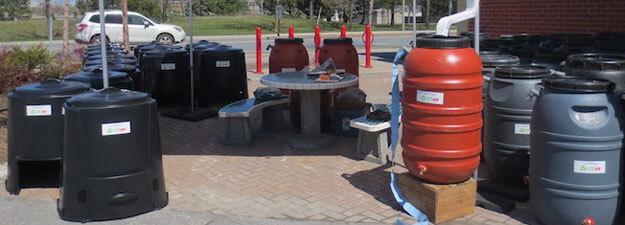 composteurs et barils récupérateurs d'eau