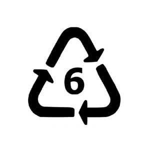 logo plastiques non recyclables et styromousse