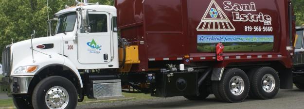 Camion de collecte de déchets à Magog