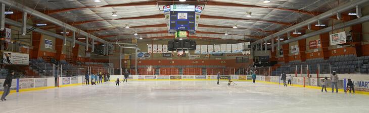 photo de l'intérieur aréna ville de magog