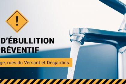 Ville de Magog | Avis d'ébullition préventif Place du Village, rues du Versant et Desjardins - Jeudi 24 octobre 2019