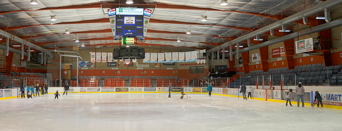 Aréna de Magog, patin, hockey