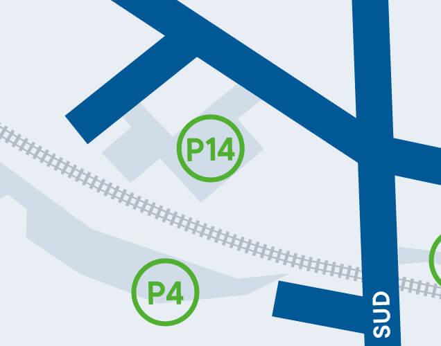 Ville de Magog | Stationnement de l'Îlot du Quai - P14