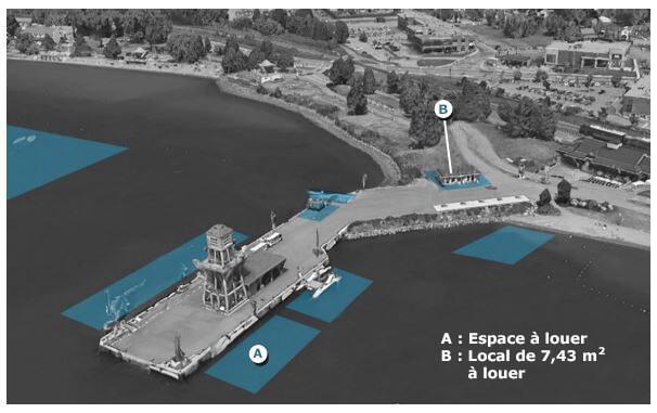 Location d'un espace nautique au quai MacPherson