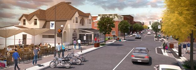 Projet de revitalisation du centre-ville de Magog - Liquor Store