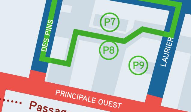 Ville de Magog   Stationnement de l'École Brassard (P7), stationnement du parc des Braves (P8) et stationnement Desjardins (P9)