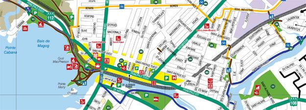 Carte routière - Ville de Magog