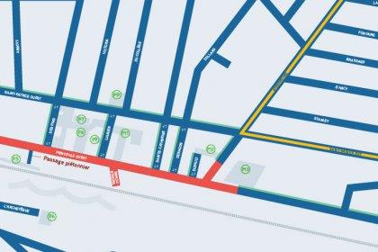 Revitalisation du centre-ville de Magog|Fermeture de l'intersection Sherbrooke et Principale et bilan des mesures d'atténuation | Plan de détour