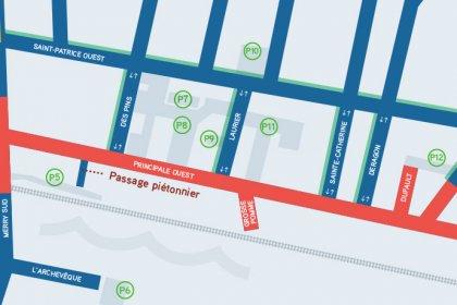 Revitalisation du centre-ville de Magog | Fermeture de l'intersection Merry et Principale | Plan de détour