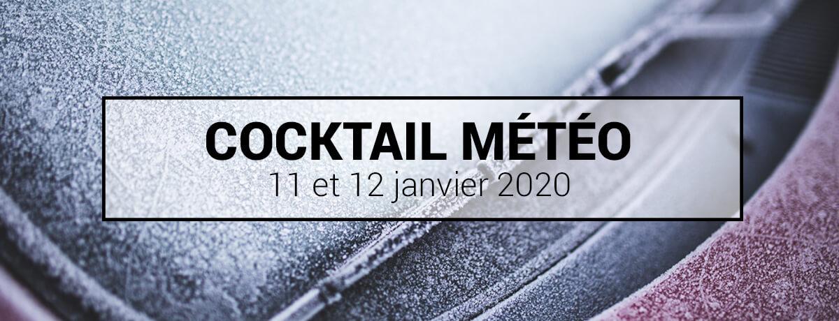 Cocktail météo - Avertissement de pluie verglaçante les 11 et 12 janvier 2020