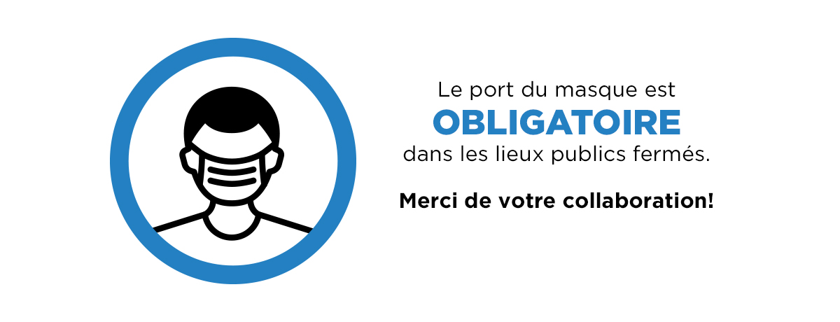 Ville de Magog | Port du masque obligatoire dans les lieux publics fermés