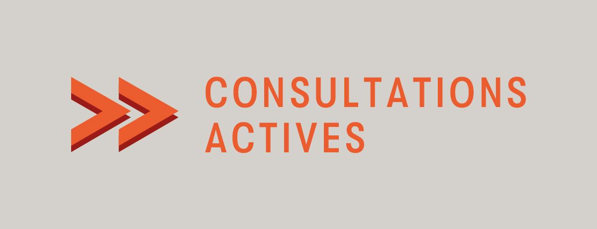 Politique de participation citoyenne | Consultations actives