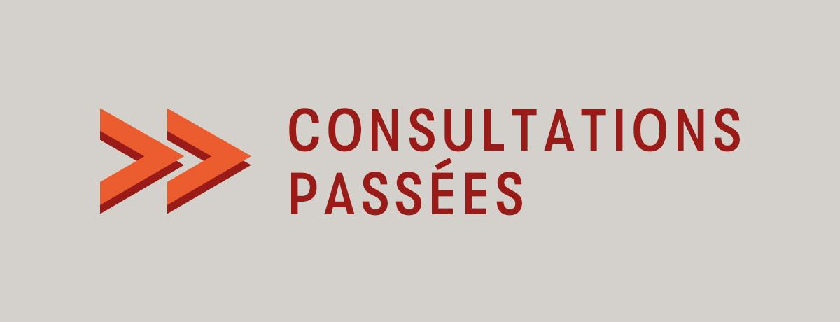 Politique de participation citoyenne | Consultations passées