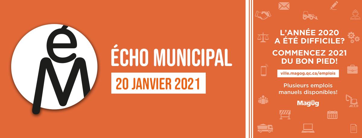 Écho municipal – 2021-01-20