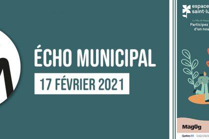 Écho municipal – 2021-02-17