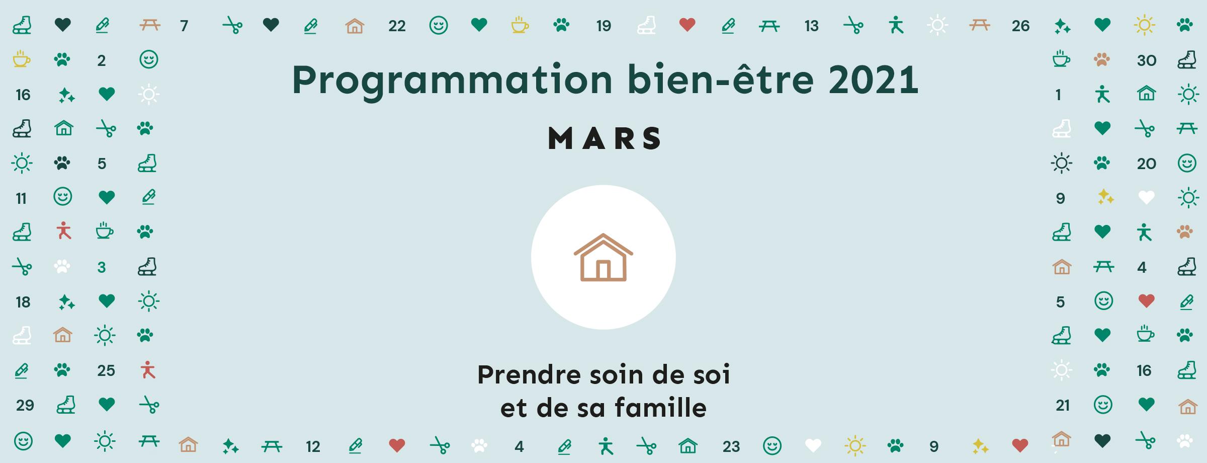Programmation bien-être 2021 | Thématique mars