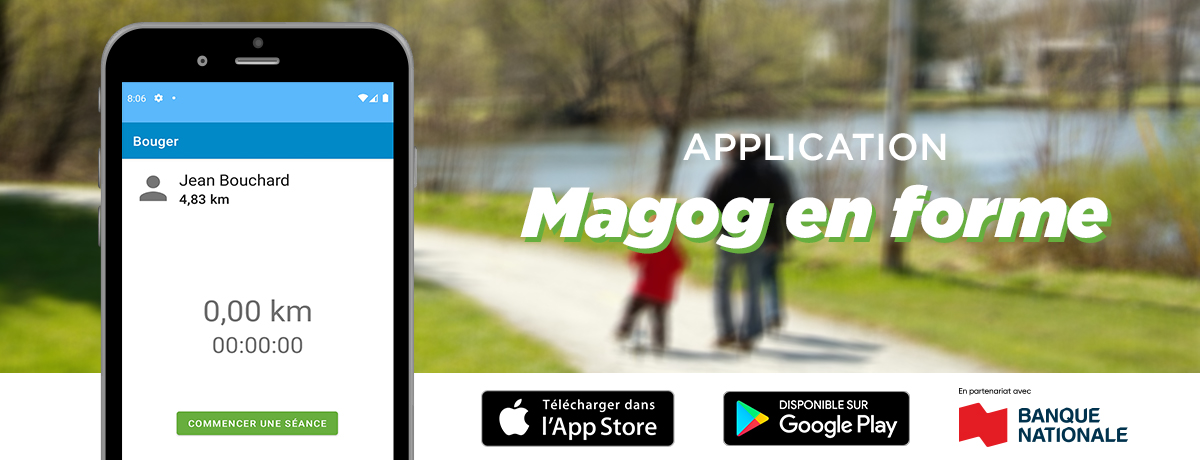 Ville de Magog | Communiqué - Magog en forme : une nouvelle application pour encourager l'activité physique