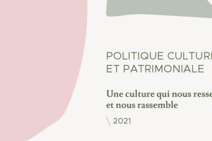 Politique culturelle et patrimoniale