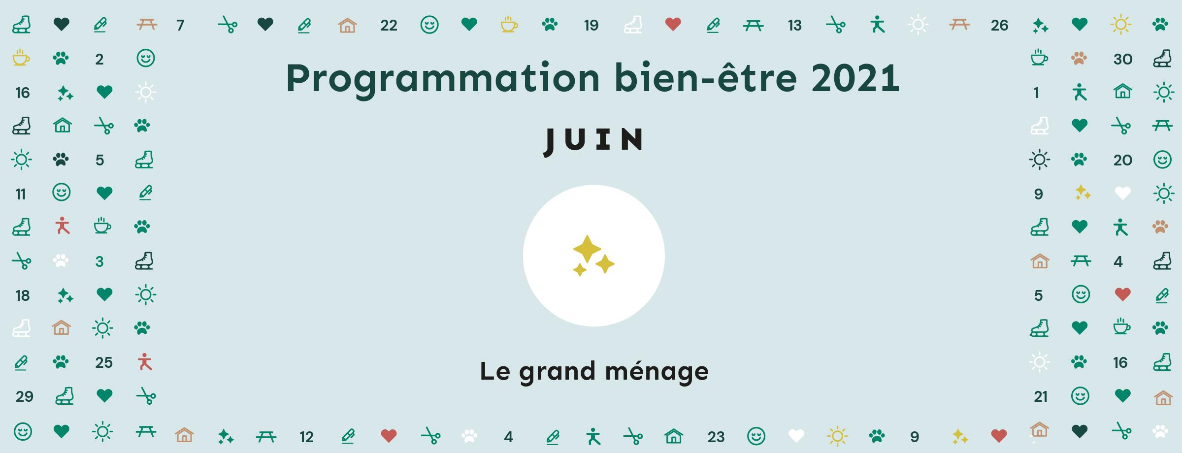 Programmation bien-être 2021 | Thématique juin