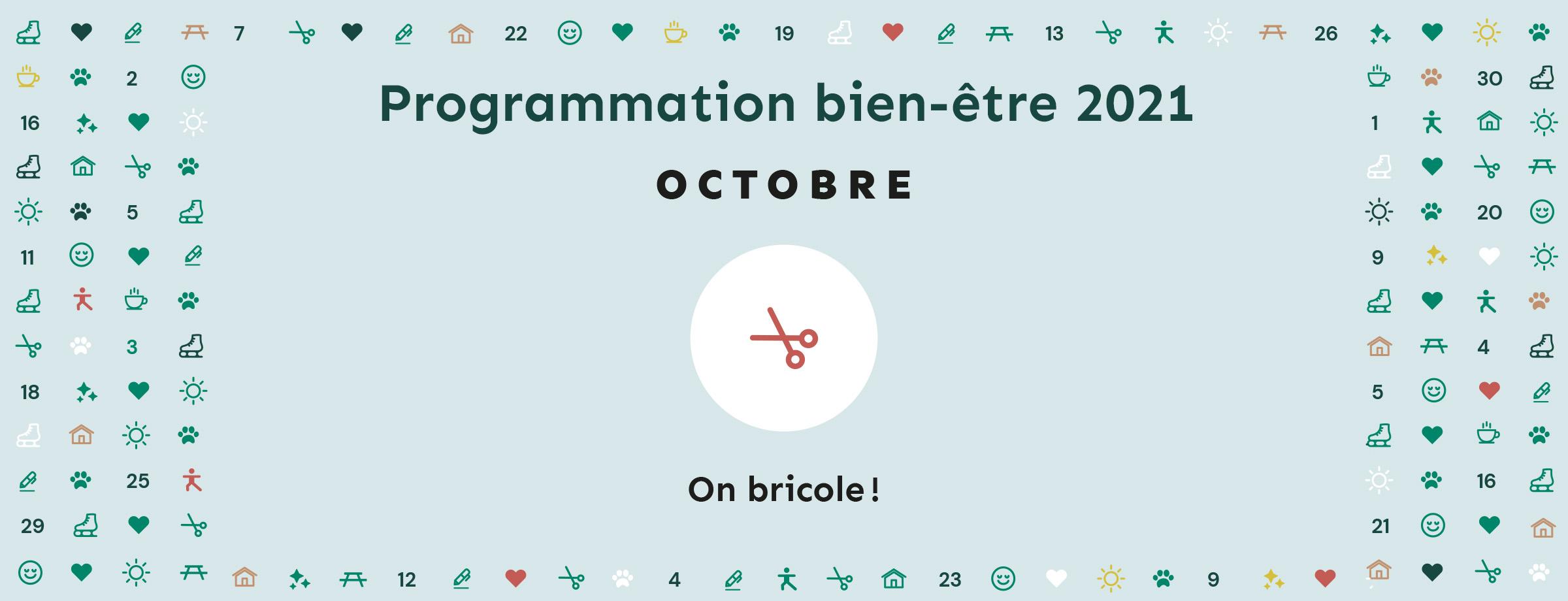 Programmation bien-être 2021   Thématique octobre