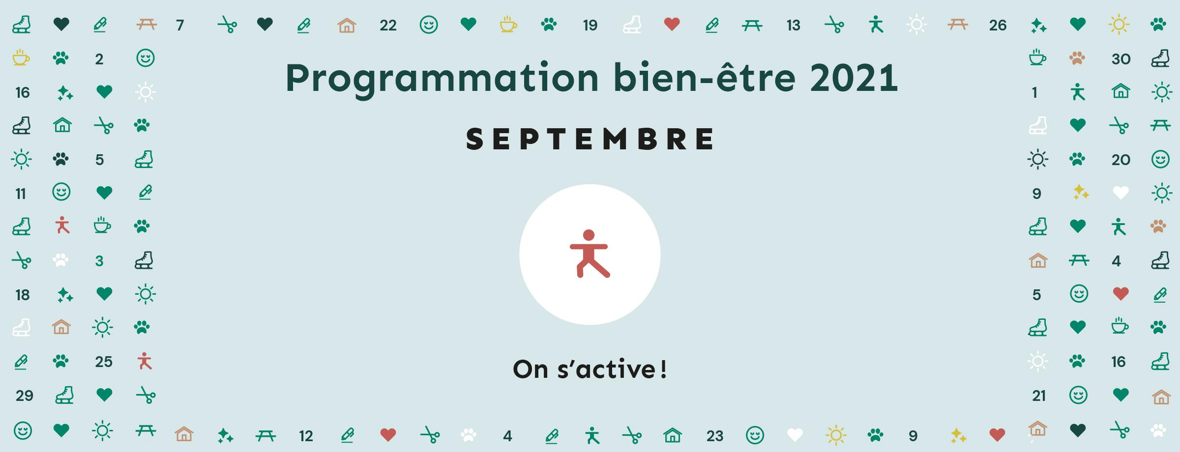 Programmation bien-être 2021   Thématique septembre